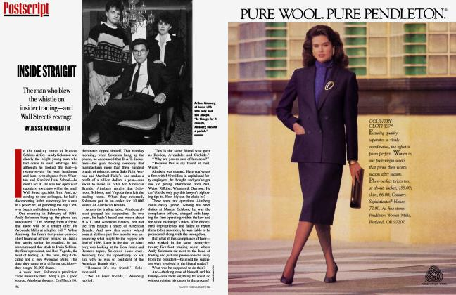 Article Preview: INSIDE STRAIGHT, August 1988 | Vanity Fair