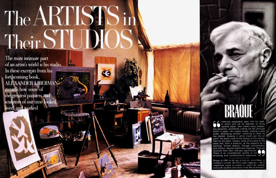 The ARTISTS in Their STUDIOS