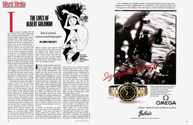 Article Preview: THE LIVES OF ALBERT GOLDMAN, October 1988 1988 | Vanity Fair