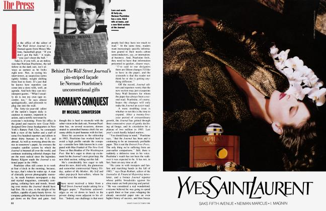 Article Preview: NORMAN'S CONQUEST, October 1988 | Vanity Fair