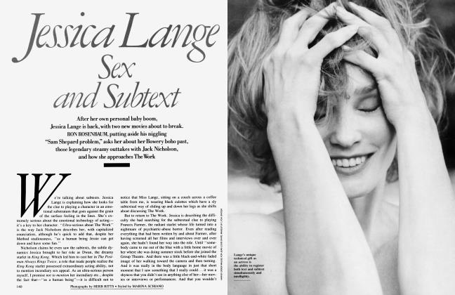 Article Preview: Jessica Lange: Sex and Subtext, October 1988 1988 | Vanity Fair