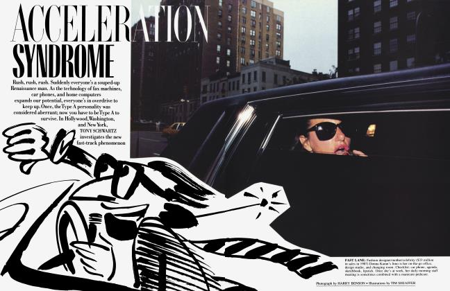 Article Preview: ACCELERATION SYNDROME, October 1988 | Vanity Fair