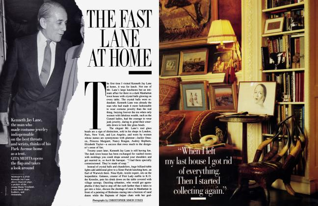 Article Preview: THE FAST LANE AT HOME, November 1988 1988 | Vanity Fair