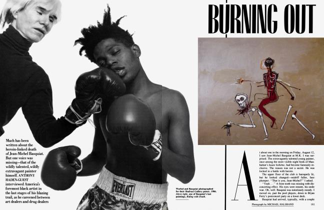 Article Preview: BURNING OUT, November 1988 1988 | Vanity Fair