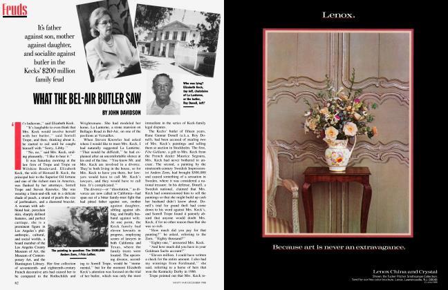Article Preview: WHAT THE BEL-AIR BUTLER SAW, December 1988 | Vanity Fair