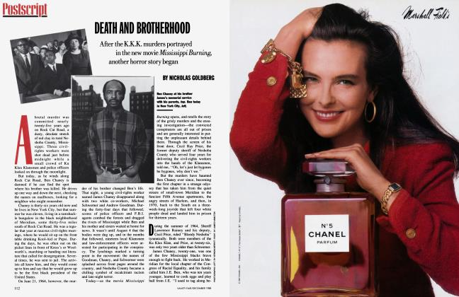 Article Preview: DEATH AND BROTHERHOOD, December 1988 | Vanity Fair