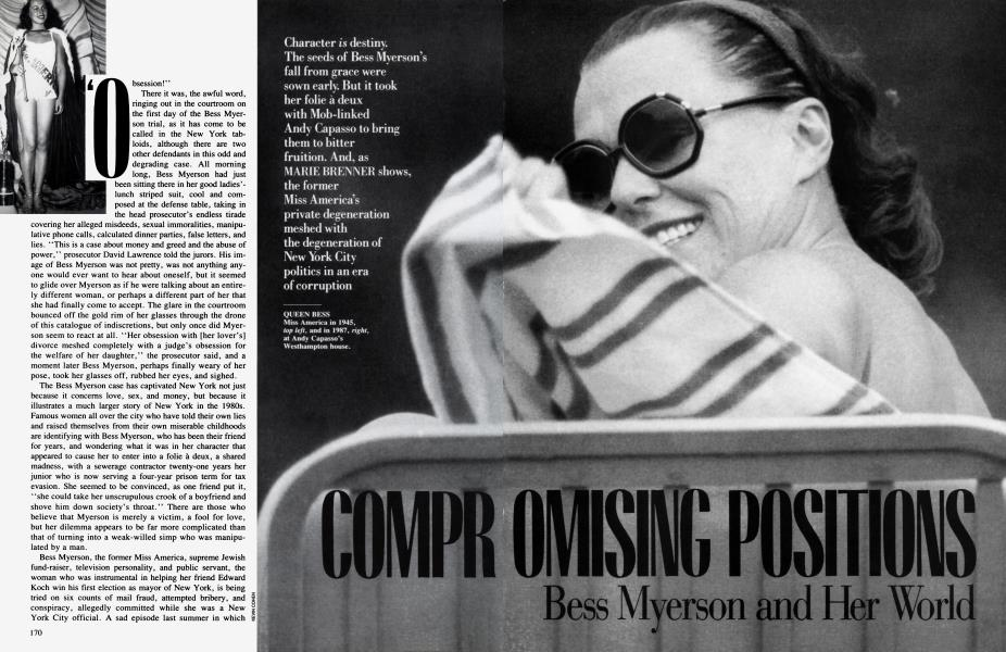 COMPROMISING POSITIONS Bess Myerson and Her World