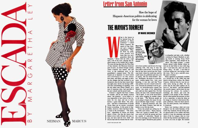 Article Preview: THE MAYOR'S TORMENT, January 1989 1989 | Vanity Fair