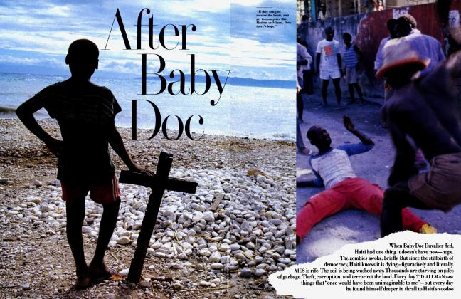 Article Preview: After Baby Doc, January 1989 1989 | Vanity Fair