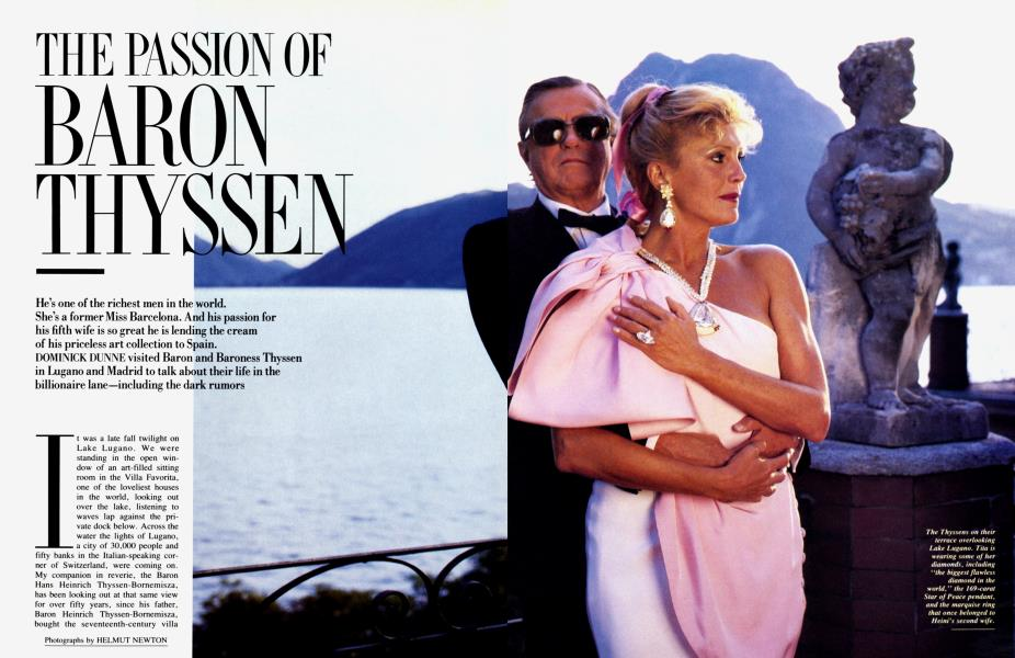 THE PASSION OF BARON THYSSEN