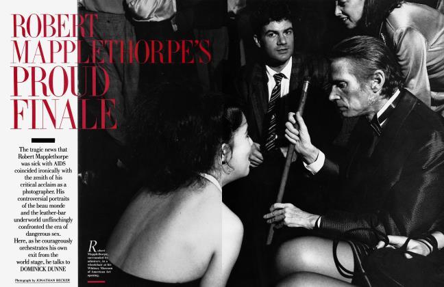 Article Preview: ROBERT MAPPLETHORPE'S PROUD FINALE, February 1989 1989 | Vanity Fair