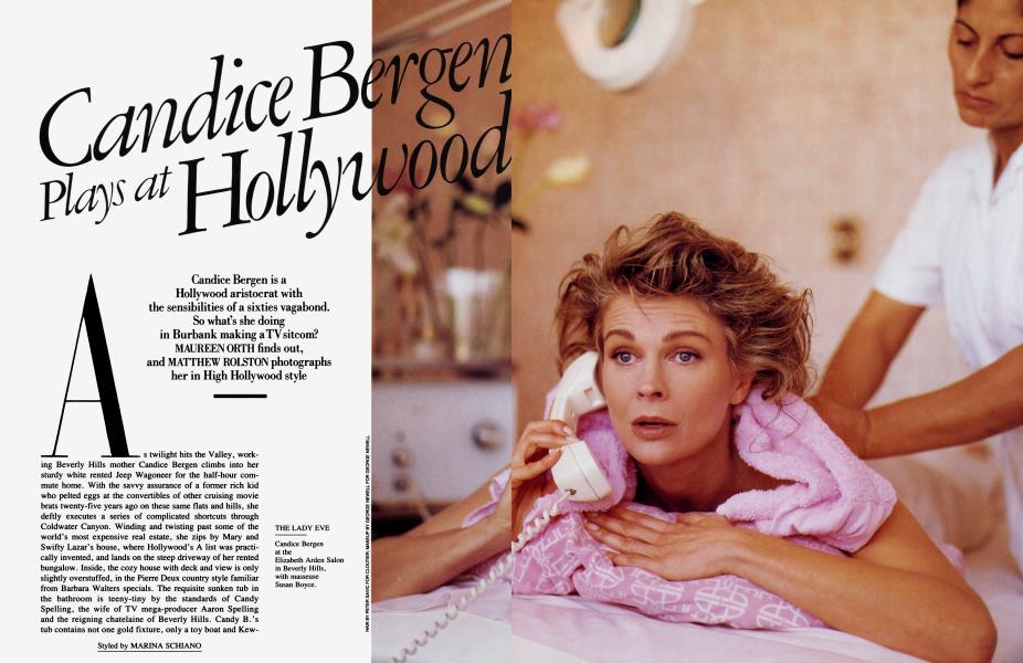 Candice Bergen Plays at Hollywood