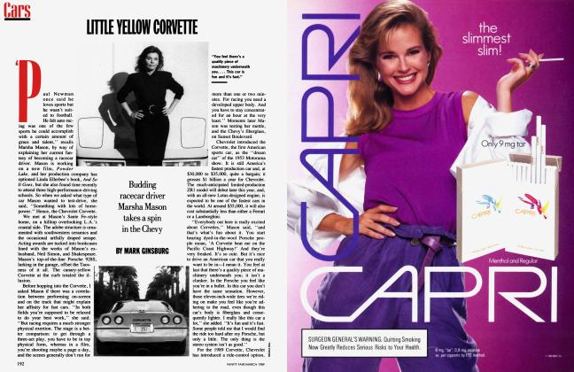 Article Preview: LITTLE YELLOW CORVETTE, March 1989 1989 | Vanity Fair