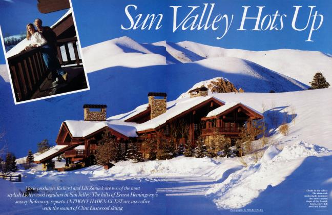 Article Preview: Sun Valley Hots Up, April 1989 1989 | Vanity Fair