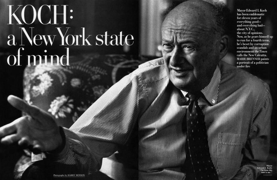KOCH: a New York state of mind