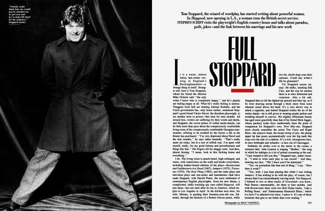 Article Preview: FULL STOPPARD, May 1989 | Vanity Fair