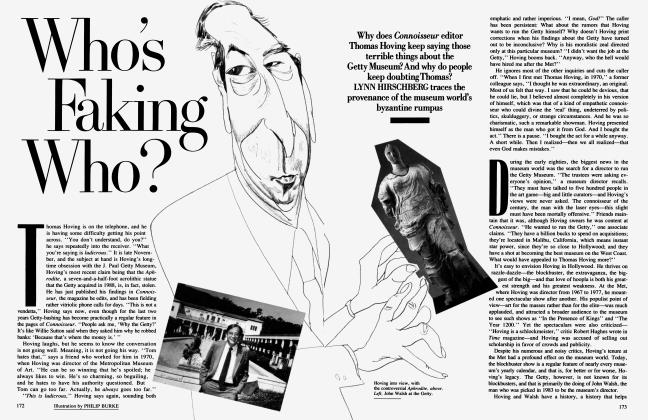 Article Preview: Who's Faking Who?, May 1989 1989 | Vanity Fair