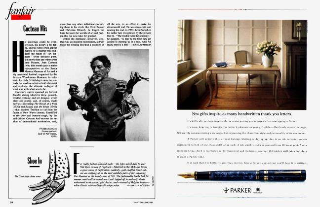 Article Preview: Shoe In, June 1989 1989 | Vanity Fair