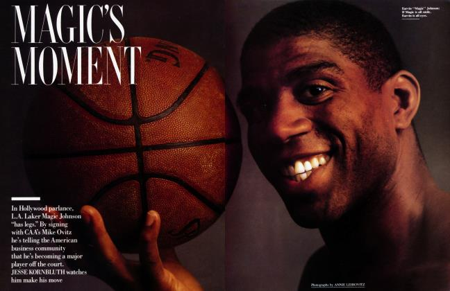 Article Preview: MAGIC'S MOMENT, July 1989 | Vanity Fair