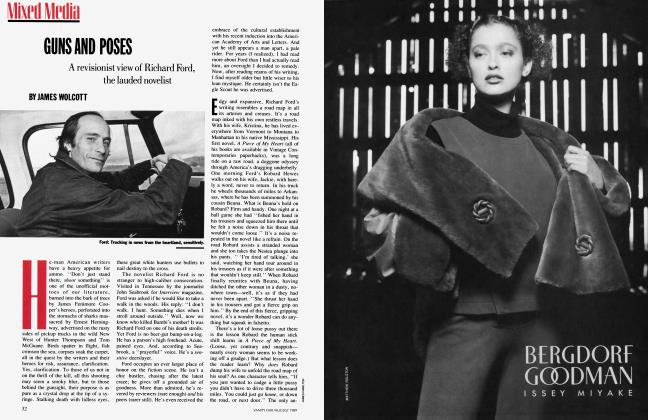 Article Preview: GUNS AND POSES, August 1989   Vanity Fair