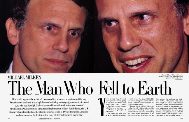 Article Preview: MICHAEL MILKEN The Man Who Fell to Earth, August 1989 1989 | Vanity Fair