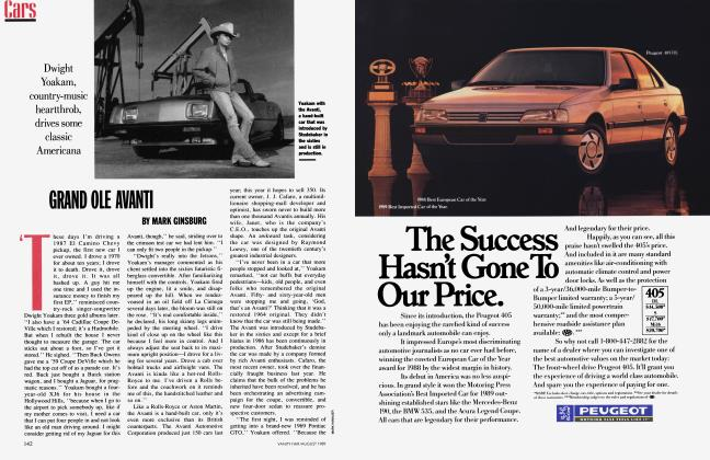 Article Preview: GRAND OLE AVANTI, August 1989 1989 | Vanity Fair
