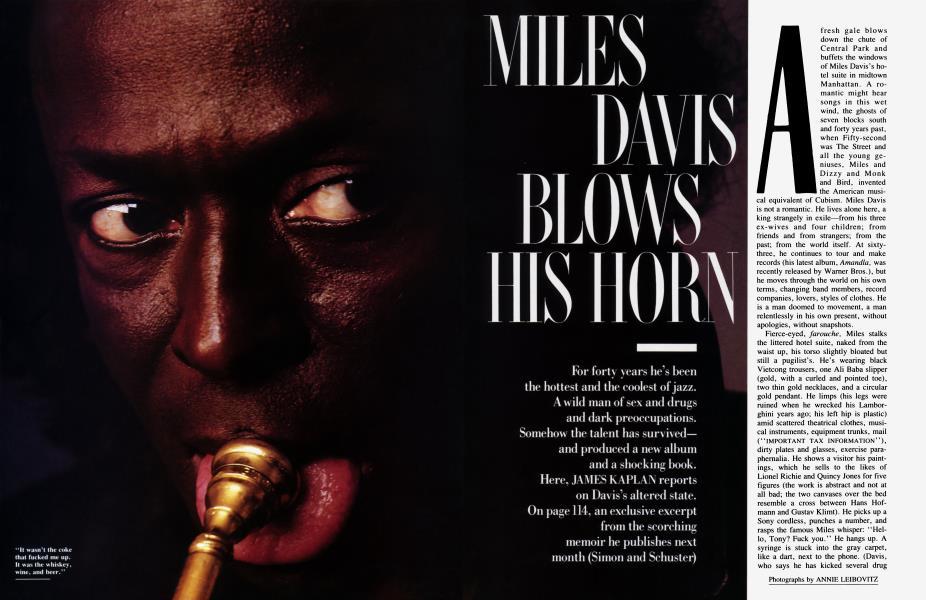 MILES DAVIS BLOWS HIS HORN