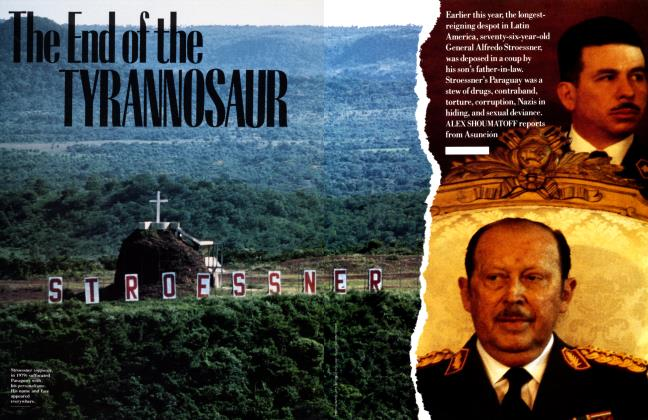 Article Preview: The End of the TYRANNOSAUR, September 1989   Vanity Fair