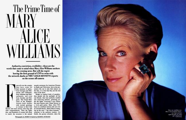 Article Preview: The Prime Time of MARY ALICE WILLIAMS, September 1989 1989 | Vanity Fair