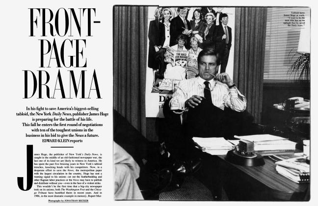 Article Preview: FRONT-PAGE DRAMA, October 1989 1989 | Vanity Fair