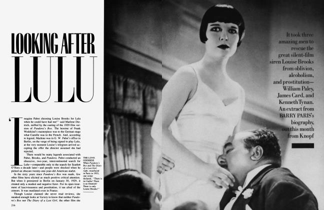 Article Preview: LOOKING AFTER LULU, October 1989 | Vanity Fair