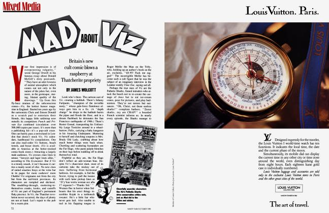 Article Preview: MAD ABOUT VIZ, October 1989 1989 | Vanity Fair