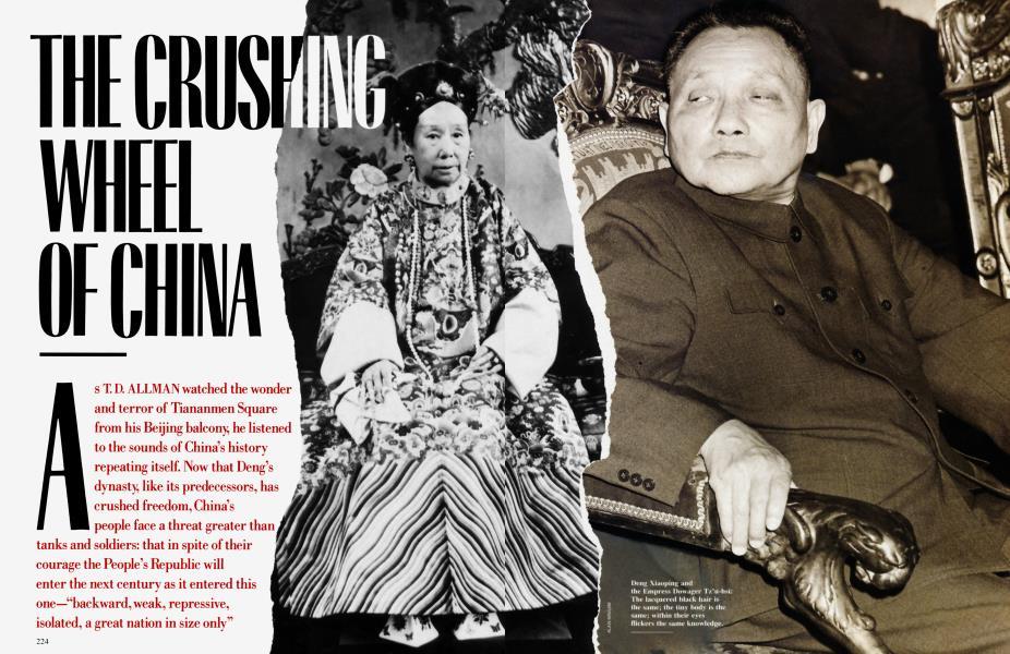 THE CRUSHING WHEEL OF CHINA