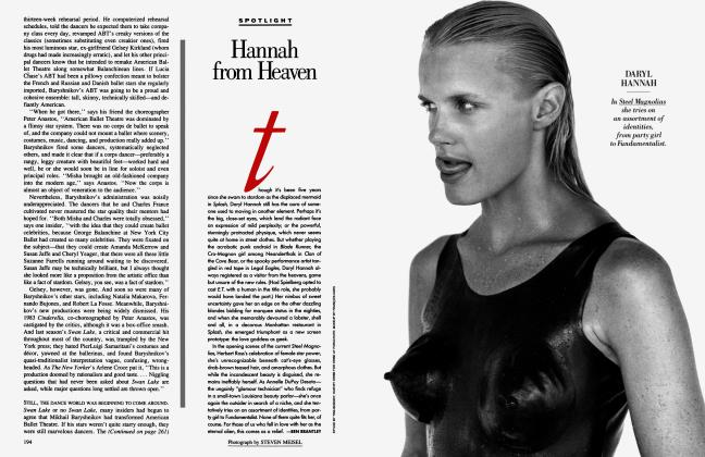 Article Preview: Hannah from Heaven, November 1989 1989 | Vanity Fair