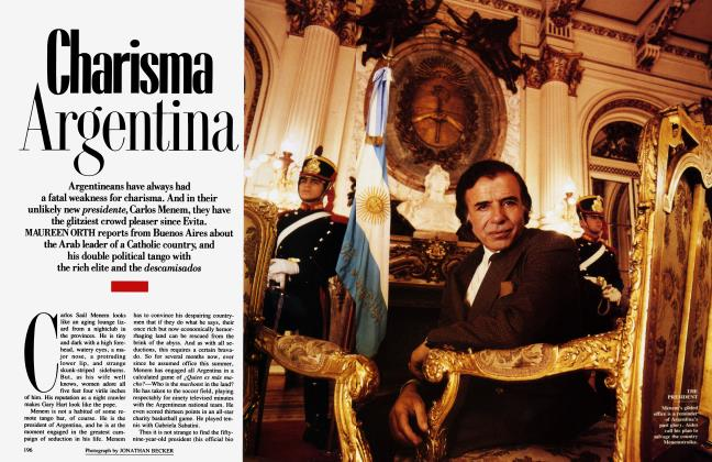 Article Preview: Charisma Argentina, November 1989 1989 | Vanity Fair