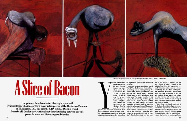 Article Preview: A Slice of Bacon, November 1989 1989   Vanity Fair