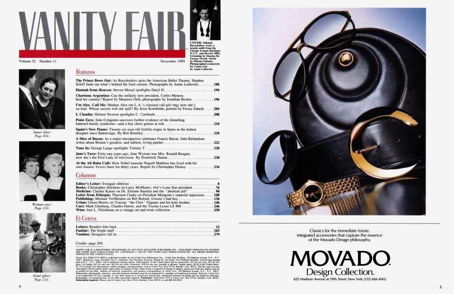 COVER | Vanity Fair | November 1989