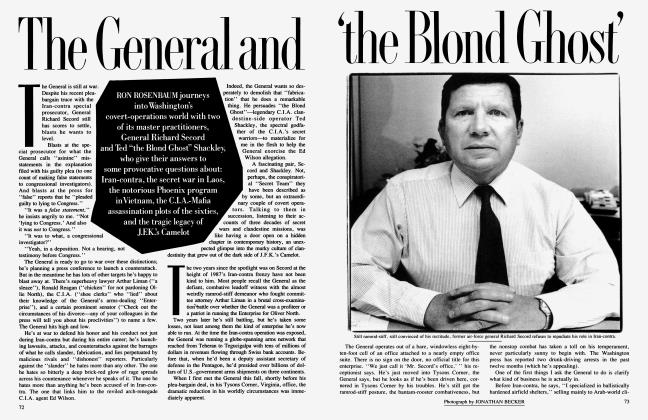 Article Preview: The General and 'the Blond Ghost', January 1990 | Vanity Fair