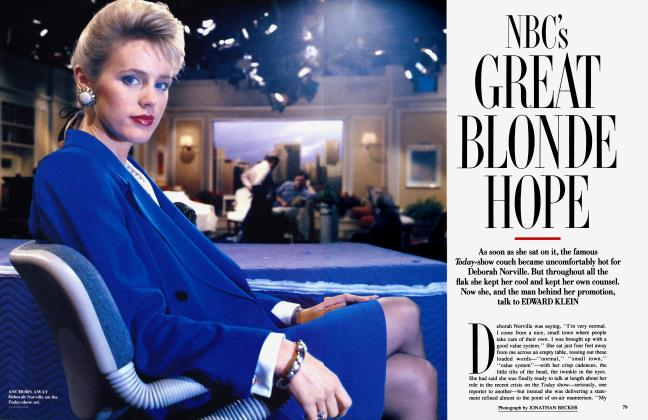 Article Preview: NBC'S GREAT BLONDE HOPE, January 1990 | Vanity Fair