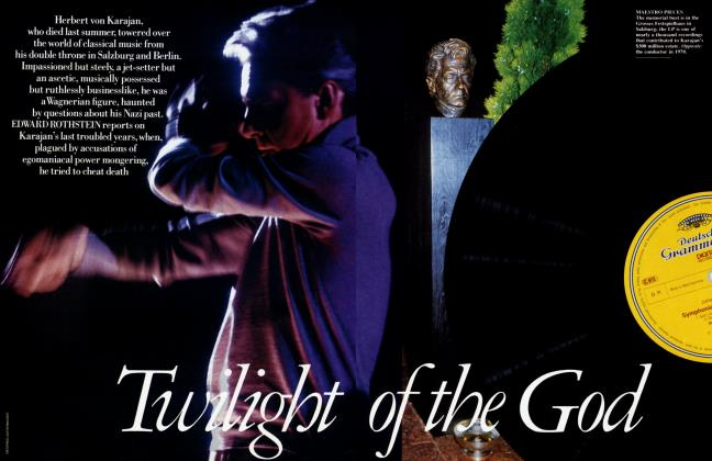 Article Preview: Twilight of the God, January 1990 | Vanity Fair