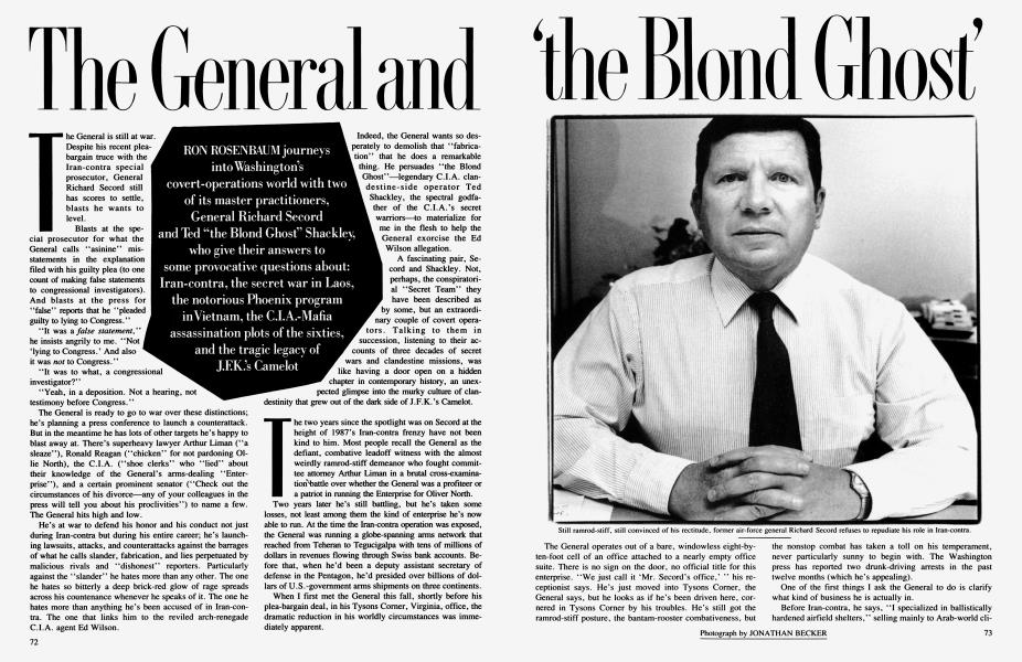 The General and 'the Blond Ghost'