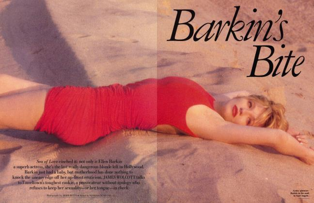Article Preview: Barkin's Bite, February 1990 1990 | Vanity Fair