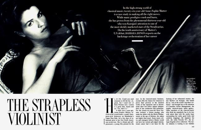 Article Preview: THE STRAPLESS VIOLINIST, February 1990 1990 | Vanity Fair