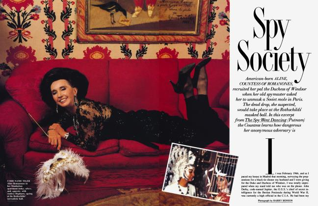 Article Preview: Spy Society, February 1990 1990 | Vanity Fair