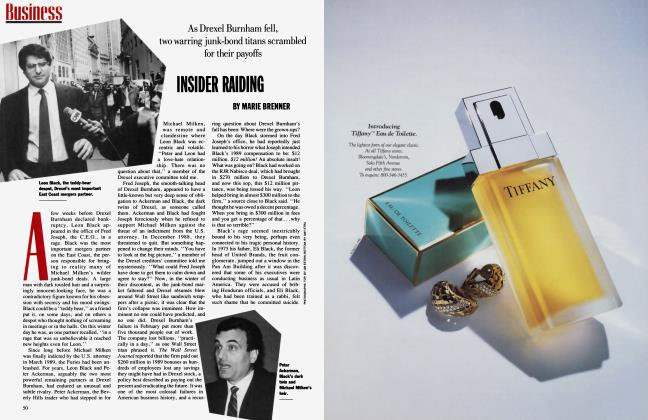 Article Preview: INSIDER RAIDING, May 1990 1990 | Vanity Fair