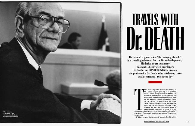 Article Preview: TRAVELS WITH Dr. DEATH, May 1990 | Vanity Fair