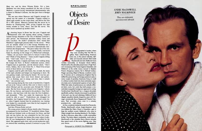 Article Preview: Objects of Desire, June 1990 1990 | Vanity Fair