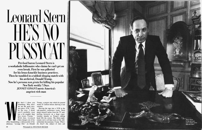 Article Preview: Leonard Stern HE'S NO PUSSYCAT, July 1990 1990 | Vanity Fair