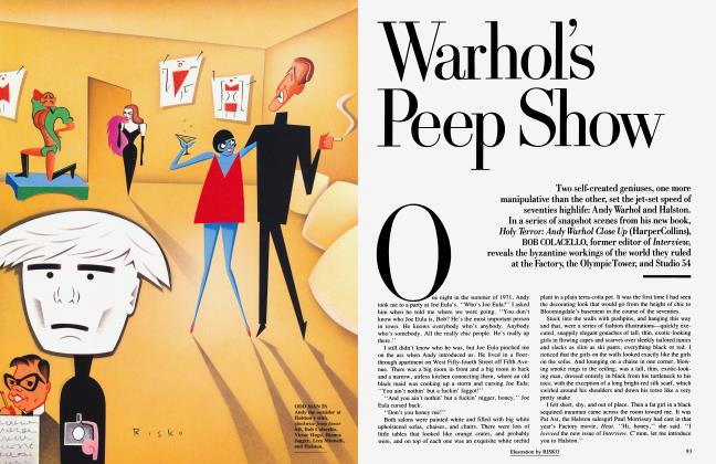 Article Preview: Warhol's Peep Show, July 1990 1990 | Vanity Fair