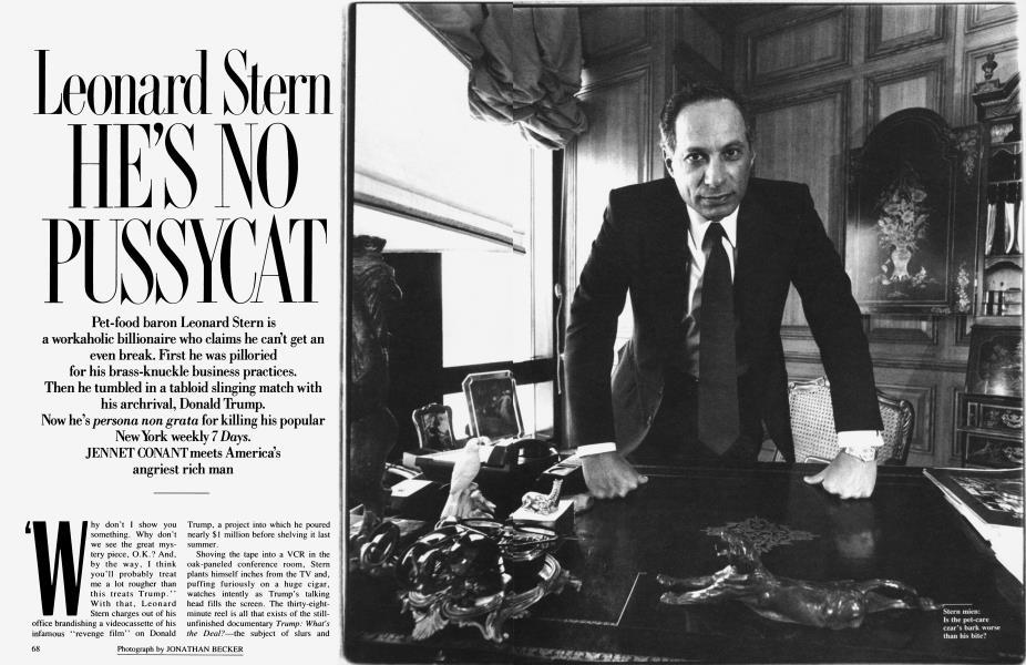 Leonard Stern HE'S NO PUSSYCAT